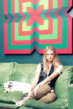kelly sawyer + her pooch via Diary of The Coveteur (love love love)
