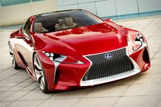 LEXUS LF-LC CONCEPT  Next time someone makes a comment about the lame, oversized late '90s era Lexus sedan down the street, show them a picture of this and laugh. Lexus LF-LC Concept ($TBA) is a radical take on the four-seater coupe, with an impressively fluid body, wild front fascia, funky headlamps, and a multi-layered instrument panel. As with most concepts, you're guess is a good as ours as to when — or even if — something resembling this beauty might be available in your neck of the…