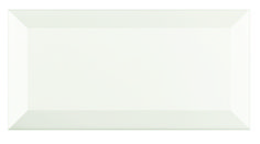 Wickes Bevelled Edge White Gloss Ceramic Wall Tile 200x100mm