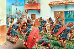 Peter Dennis - Year 75 a.C, combat between the legionaries of Pompey and of Quintus Sertorius in Valentia Edetanorum (Valencia), that ended with victory of the first. Ancient Egyptian Art, Ancient Rome, Ancient History, European History, Ancient Aliens, Ancient Greece, American History, Imperial Legion, Romulus And Remus