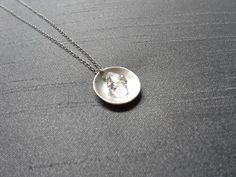 Modern Herkimer Pendant / Fine Silver Necklace/ Handmade Jewelry/ Gifts for Women by BitsofSilver on Etsy https://www.etsy.com/listing/205964056/modern-herkimer-pendant-fine-silver