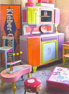 Colour!! WOW, cool kids playroom ideas