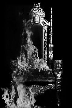 Title:Burning Throne, 2012 by Gayle Mandle and Julia Mandle Goth Dolly© Crown Aesthetic, Queen Aesthetic, Hades Aesthetic, Merian, Throne Of Glass, The Throne, Ex Machina, Red Queen, Dark Queen