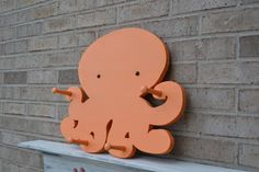 Baby Room Coat Rack in Tangerine Orange by LifeUnscripted on Etsy, $86.50