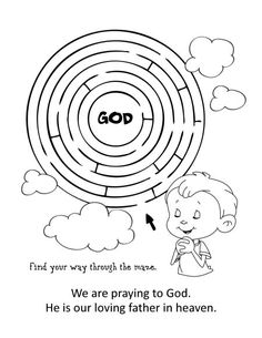 The Lords Prayer Coloring and Activity Book Sunday School Activities, Bible Activities, Sunday School Crafts, Older Kids Crafts, Bible Crafts For Kids, Our Father Prayer, Lord's Prayer, Prayers For Children, Religious Education