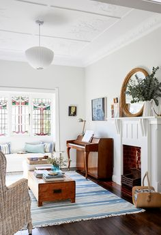 Colourful and family friendly living room in heritage Sydney home.