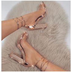 Quality LALA IKAI Women Heeled Sandals Bandage Rhinestone Ankle Strap Pumps Super High Heels 11 CM Square Heels Lady Shoes with free worldwide shipping on AliExpress Mobile Cute Heels, Lace Up Heels, Ankle Strap Heels, Rose Gold Heels, Ankle Straps, Black Heels, Strap Sandals, Classy Heels, Pretty Heels
