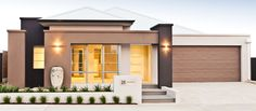 Find the perfect customised single storey home with apg Homes, one of Perth's most awarded builders. House Cladding, Facade House, Home Design, Modern House Design, House Exterior Color Schemes, Exterior Design, Modern Residential Architecture, Architecture Design, Morden House