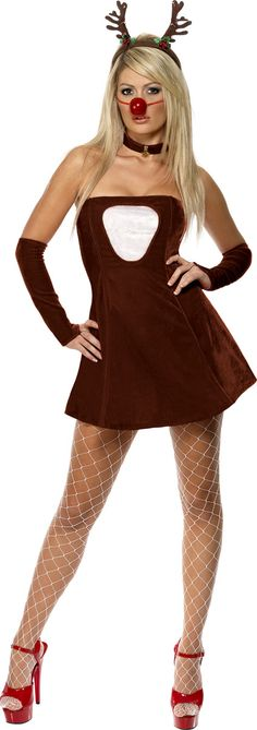 52c049069563e Costume Mère Noël Rouge renne chaud Costume Robe Déguisement Renne