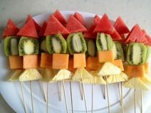 Fruit Rocket Ship...use straws instead of skewers
