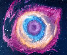 "Eye of All by Nate Grady | $250 | 20""w x 16""h | Original Art | http://www.vangoart.co/buy/art/eye-of-all @VangoArt"