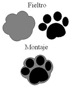 felt dog paws, nice as a charm or keyring.