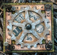 CREATIVITY IS CONTAGIOUS: S IS FOR STEAMPUNK STYLE SQUASH CARD -- Candy Colwell