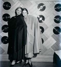 Lee Miller and Tanja Ramm and a record wall, by Man Ray, 1930More Pins Like This At FOSTERGINGER @ Pinterest–