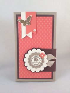 Stampin' Up! Calypso Coral sticky note holder (or Post-it note)