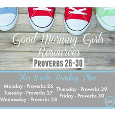 The #GoodMorningGirls ⏰ begin week 6 tomorrow in the book of #Proverbs! ✨✨. Here is this week's #BibleReadingPlan ! For more free resources including the #VerseOfTheWeek and daily reflection questions go to WomenLivingWell.org or tap▶️@womenlivingwell and it will take you to my bio with the link ✨✨. Have a great new week!