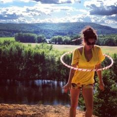 Hoopdancing by such a great view