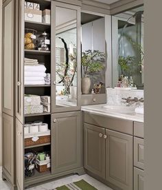 Lovely Built In Bathroom Cabinets