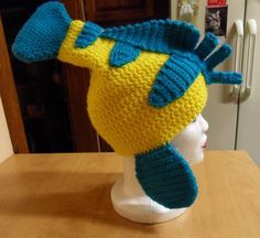 Flounder Hat (from The Little Mermaid) - CROCHET