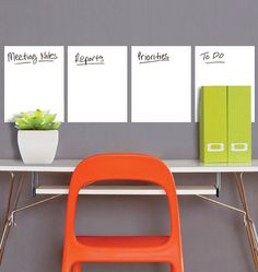 Wallies Set 4 Dry Erase Peel and Stick Decals - Wall Sticker Outlet