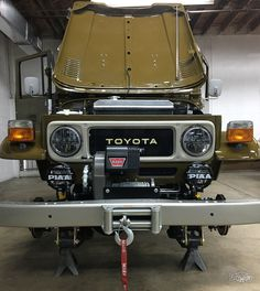 View details of this 1981 Olive Highlights include Matching numbers, Original Toyota Engine and manual. Want an FJ Land Cruiser? Call The FJ Company today! Toyota Lc, Toyota Fj40, Toyota Trucks, Toyota Cars, Toyota Cruiser, Fj Cruiser, Mini Jeep, Jeep Truck, Japanese Cars