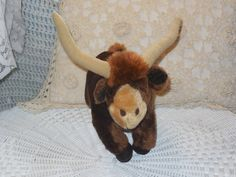 Russ Berrie and Company Tex the Longhorn by Daysgonebytreasures, $18.00  https://www.etsy.com/listing/190525041/russ-berrie-and-company-tex-the-longhorn