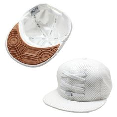 'Holy Moly' SOLE Force 1 Snapback To Reality, Dope Hats, Vintage Baseball Caps, New Era Fitted, Mesh Cap, Snapback Cap, Hats For Men, White Leather, Mens Fashion