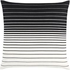 "Kelby 20"" Pillow, Black and White, Interior Deisgn, Furniture & Decor, Game On, h-a-l-e.com"