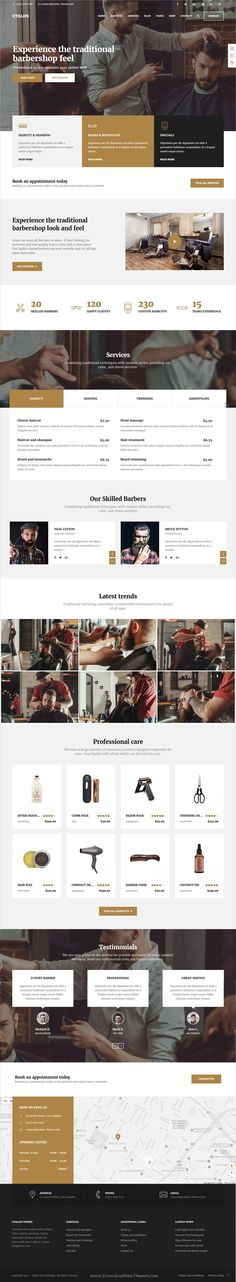Etalon is clean and modern design multipurpose responsive #WordPress theme for creative #saloon #barbershop professional services website with 15+ niche homepage layouts download now..