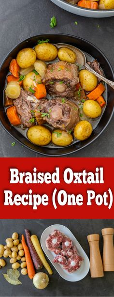 Braised Oxtail is a delicious one-pot meal. This dish takes some time to cook, but the fall off the bone end results are well worth the wait.