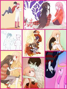 Marshall lee, marceline, princess bubblegum, and prince gumball Avenger Time, Prince Gumball, Finn The Human, Jake The Dogs, Anime Version, We Bare Bears, Adventure Time Anime, Rugrats, Princess Bubblegum