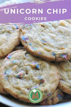 This Unicorn Chip cookies recipe is packed with vanilla goodness. It's a wonderfully soft cookie that almost melts in your mouth. Easy Gluten Free Desserts, Vegan Recipes Easy, Easy Desserts, Baking Recipes, Sweet Recipes, Chip Cookie Recipe, Chip Cookies, Cookie Recipes, Dessert Recipes