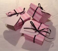 Cutesy Gift Box or Place Settings tutorial. These are Victoria's Secret themed for Valentine's Day, but you can edit to fit your party theme. Victoria Secrets, Victoria Secret Party, Pink Birthday, 20th Birthday, Sweet 16 Parties, Pink Parties, Valentine Day Gifts, Valentines, Sweet Fifteen