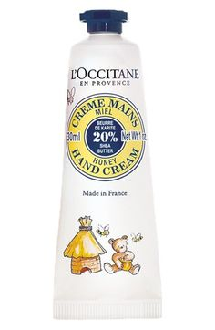 L'Occitane 'Shea Honey' Hand Cream, $12. I like that it's 20% shea butter. Don't know what percentage other brands are because I've never known any other brands to publicize this information. All I know is I like lotions that are actually moisturizing and not watery. @Jenn L Ross says this is her current favorite.