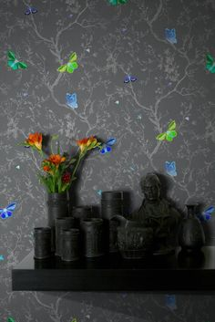 Butterflies wallpaper by Timorous Beasties