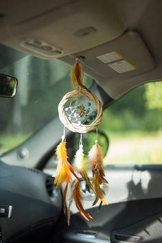 Small dream catcher Wall hanging dreamcatcher Turquoise