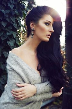 Andromeda Earrings Pierced ~ Black Diamond