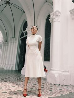 """Kim Jones Share Her Singapore Travel Diary: """"I love heading to Chijmes for a lunch date and enjoying the surroundings. This former school is now an impressive lifestyle complex."""" 