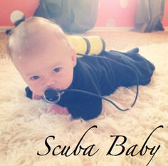 Baby Scuba Diver - 11 DIY Costumes For Your Baby To Win Halloween