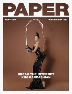 Kim Kardashian's Paper Magazine cover from the Winter of 2014!