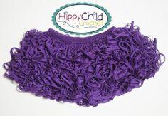 child's ruffled knit skirt