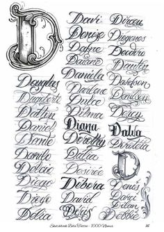 Calligraphy Tattoo Fonts, Tattoo Lettering Design, Tattoo Fonts Cursive, Chicano Lettering, Graffiti Lettering Fonts, Word Fonts, Hand Lettering Alphabet, Tattoo Script, Script Lettering