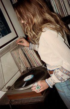 "somerollingstone: "" Caroline Wilson by Graham Dunn for Child of Wild x Stoned Immaculate Vintage Summer 2015 "" Caroline Wilson, Bohemian Style, Boho Chic, Bohemian Fashion, Hippie Style, Dr. Martens, Retro, Chelsea, Vintage Vinyl Records"
