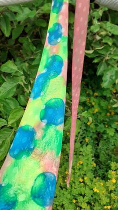 Fathers day SILK necktie, Handpainted 100% SILK, tie, Blue Green Pink, unique gift father, video,  giftpackaged, poem, cool, ready to ship Gifts For Husband, Gifts For Father, Fathers, Gift Envelope, The Elf, You Are The Father, Silk Ties, Poem, Angels