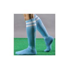 Unisex Sport Football Striped Long Socks Knee High Protection Socks (€5,06) ❤ liked on Polyvore featuring intimates, hosiery, socks, light blue, striped sports socks, patterned socks, striped knee high socks, knee high sports socks and knee high sport socks