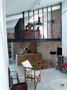 internal windows - an artist's studio loft in Paris