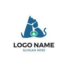 Animal Heart and Cross logo design