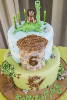 The Good Dinosaur cake 2 Birthday, Dinosaur Birthday Cakes, Birthday Ideas, The Good Dinosaur Cake, Dino Cake, Christian Cakes, Arlo Und Spot, Jurassic World Cake, Disney Cakes