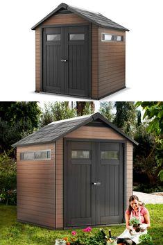 Garden Storage Shed Patio Cabin Room Heavy Duty 4x8 6x8 10x8ft Foundation Metal