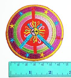 Peace Sun Symbol Sign Hippie DIY Applique Logo Patch Sew Iron on Logo Embroidered Badge Sign Emblem Costume >>> Learn more by visiting the image link.